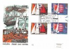 1975 Sailing, Pair of Benham Engraved FDC's, Royal Thames Yacht Club Bi-Centenary Year Sailing & Yachting stamps London SW H/S