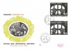1976 Social Pioneers, Set of 4 Benham Engraved FDC's, Vertical Gutter Pairs with Relevant cds & FDI postmarks
