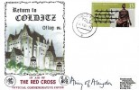 1980 Return to Colditz Oflag IVc Wessex Red Cross Commemorative Cover, Colditz cds, Signed by Airey Neave's Wife