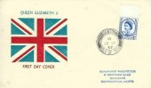 1957 Parliamentary Conference, Union Jack FDC, Santon Isle of Man cds