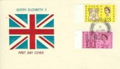 1963 Freedom from Hunger, Union Jack FDC, Santon Isle of Man cds