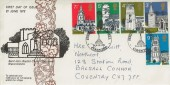 1972 Village Churches Saint John Baptist Berkswell Official FDC, Festival of Berkswell Coventry H/S