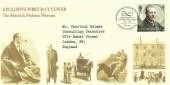 2009 Eminent Britons, Sherlock Holmes Museum FDC, 1st Class Sir Arthur Conan Doyle stamp only, 150th Anniversary of Sir Arthur Conan Doyle  The Adventures of Sherlock Holmes Baker St London W1 H/S