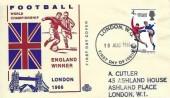 1966 England Winners, Illustrated FDC, London WC FDI