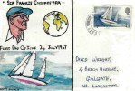 1967 Sir Francis Chichester, Hand Painted FDC, Galgate Lancaster cds