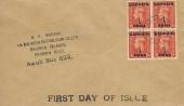 1951 KGVI ½d Festival of Britain Pale Orange Overprinted ½d Anna Bahrain, Block of 4, Display FDC, Awali Bahrain cds