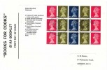 1969  £1 Stamps for Cooks Prestige Booklet, Se-Tenant Pane, National Postal Museum London EC1 H/S
