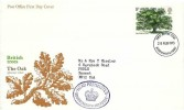 1973 British Trees the Oak. Post Office FDC, Bournemouth - Poole FDI. Head Postmaster Bournemouth and Poole Purple Cachet