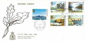1981 National Trust, Royal Air Force Gatow FDC, British Forces Post Office Berlin 3 cds