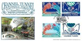1994 Channel Tunnel, Dawn Official Sheffield Wednesday FDC, Woodhead Tunnel Under Construction 150 Years Ago Sheffield H/S