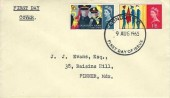 1965 Salvation Army, Bett, Hartley, Huett & Co Ltd. Envelope FDC, London EC FDI