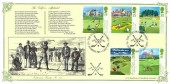 1994 Golf, Bradbury VP87 Official FDC,The Golfer's Alphabet St.Andrews Fife H/S