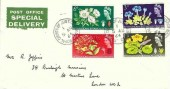 1964 Botanical Congress. Plain Post Office Special Delivery FDC, Royal Courts of Justice BO WC2 cds