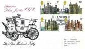 1978 Historic Buildings Rare Stampex Official FDC, Stampex London SW1 Silver Jubilee H/S