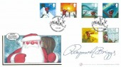 2004 Christmas, Buckingham Covers 212 Official FDC, Christmas 2004 Bloomsbury London WC1 H/S, Signed by Raymond Briggs