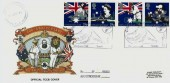 1988 Australian Bicentenary, Stamp Publicity SP Official FDC, GB Cricketing Links Headingley Leeds H/S