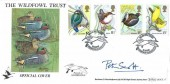 1980 British Birds, Benham BOCS 17 Official FDC, Wildfowl Trust Slimbridge Gloucester H/S, Signed by Peter Scott