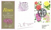 1976 Roses, Post Office FDC, Year of the Rose Bath H/S. Address to & Signed by the Marquess of Bath
