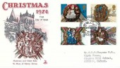 1974 Christmas, Mercury FDC, The Collegiate Church Ottery St.Mary H/S