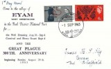 1965 Arts 6d & Lister 4d, Eyam Plague Commemorative Official FDC, Eyam Plague Tercentenary 2665 - 1965 Eyam Sheffield H/S