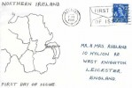 1966 4d Northern Ireland Regional, Hand Illustrated FDC, First Day of Issue Belfast Slogan
