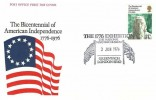 1976 USA Bicentenary, Post Office FDC, The 1776 Exhibition the National Maritime Museum Greenwich London SE10 H/S