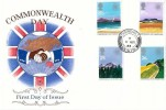 1983 Commonwealth Day, Stuart FDC, Churchill Bristol cds