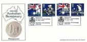 1988 Australian Bicentenary, Arlington Wedgwood Official FDC, Wedgwood Barlaston Stoke-on-Trent Australian Bicentenary 1788-1988 H/S