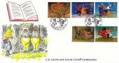 1998 Magical Worlds, Stamp Searchers FDC, Birthplace of Lewis Carroll Daresbury Warrington H/S