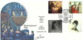 1999 Entertainers' Tale, Fourpenny Post Official FDC, Helensburgh Scotland Birthplace of John Logie Baird Inventor of the Television 1926 H/S, signed by Cover Artist