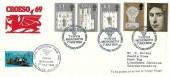 1969 Prince of Wale Investiture, Talyllyn Railway Company Towyn Croeso 69 Official FDC,Talyllyn Railway Tywyn Meroneth H/S+ 1/2 Railway Letter Stamp