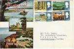 1966 British Landscapes FDC Ord Set with Very RARE Harlech Merioneth FDI