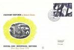 1976 Social Pioneers & Reformers, Benham Engraved FDC, 10p Robert Owen stamp only Lanark cds