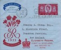 1953 Coronation 6d Air Letter , Long Live the Queen Edinburgh Slogan, + Elizabeth Regina First of Scotland and Second to None! Cachet
