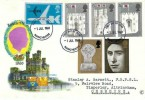 1969 Prince Charles Investiture, Connoisseur FDC, Manchester FDI,+9d  VC10 Air Letter stamp