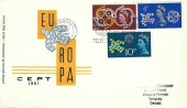 1961 CEPT,  Italian Illustrated FDC, CEPT European Postal Conference Torquay Slogan