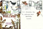 1966 British Birds,Connoisseur FDC, Westminster Abbey 900th Anniversary Year South Kensington SW7 Slogan & cds