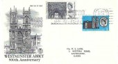 1966 Westminster Abbey, Stuart FDC, Eastbourne Britain's Sunniest Mainland Resort 1961-62-63-64 Slogan