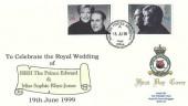 1999 Royal Wedding, RAF Bruggen FDC, British Force Bruggen Post Office cds