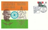 1969 Gandhi, Thames FDC, Gandhi Centenary Year HCRC Exhibition London E8 H/S