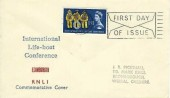 1963 Lifeboat Conference, Display FDC, 1/6d Phosphor stamp only Fire Day of Issue Liverpool Slogan