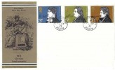 1971 Literary Anniversaries, Post Office FDC, George Street Perth cds