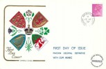 1972 QEII Definitive Issue 2½p Gum Arabic, Cotswold FDC, Marshfield Chippenham Wilts.cds