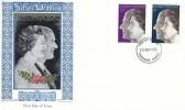 1972 Silver Wedding, Copecrest Textiles & Philately Woven Card Picture FDC, Fareham Hants. FDI