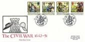 1992 English Civil War, Historic Relics FDC, 350th Anniversary the Civil War Prince Rupert of the Rhine The Barbican London EC H/S