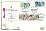 1986 H.M. The Queen's 60th Birthday, Cotswold FDC, Her Majesty the Queen's Birthday London SW1 H/S, Carried on Board Skyship 500-02 Inaugural Flight