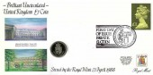 1988 First Day of Issue of the 1988 UK £1 Coin cover, Royal Mint Llantrisant Pontyclun Mid.Glam H/S