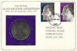 1972 Silver Wedding, Sandhill Regd. Silver Wedding Crown Card FDC, Leeds FDI