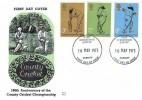 1973 County Cricket Centenary, Benham Engraved FDC, Dydd Cyhoeddiad Cyntaf Cardiff FDI