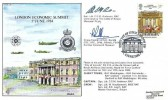 1984 London Economic Summit, RFDC No.29 FDC, First Day of Issue London SW H/S, Signed